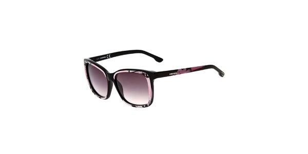 Dámske čierno-ružové slnečné okuliare Diesel