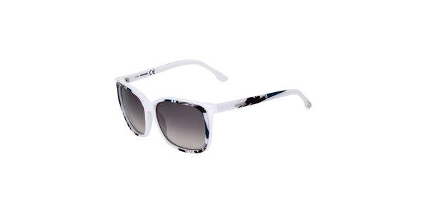Dámske biele slnečné okuliare Diesel s potiskem