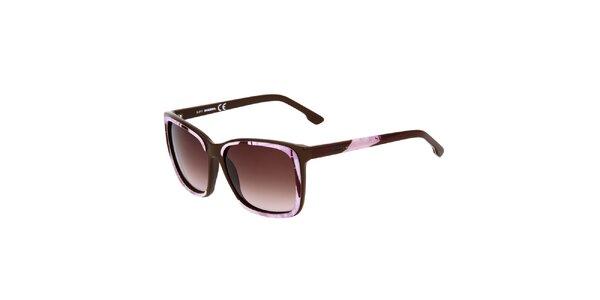 Dámske hnedo-ružové slnečné okuliare Diesel