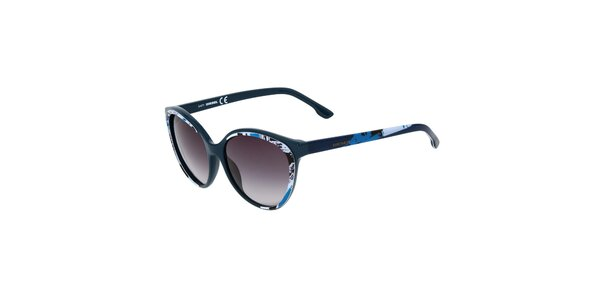 Dámske modré slnečné okuliare s potiskom Diesel