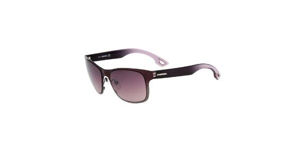 Dámske fialovo-čierne slnečné okuliare Diesel