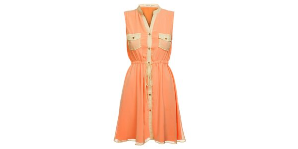 Dámske marhuľové šaty Lucy Paris