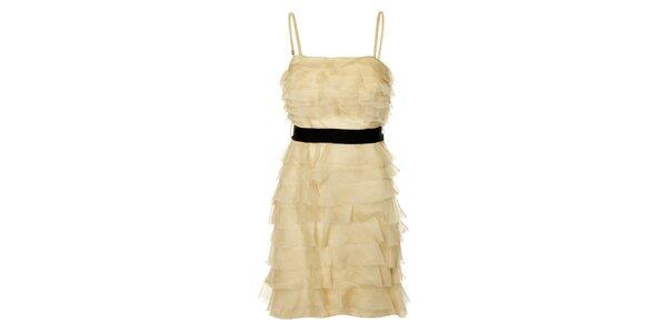 Dámske béžové Charlestonovej šaty Lucy Paris