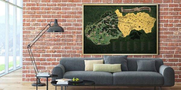 Stieracie mapy: Vysoké Tatry, Slovensko, Európa a svet