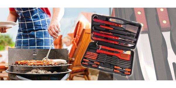 Kvalitné BBQ grilovacie náradie - sada 18 ks