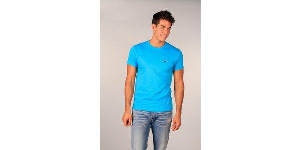 Pánske tyrkysové tričko s krátkými rukávmi TH