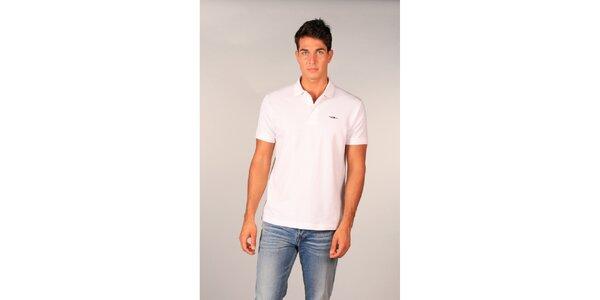 Pánske biele polo tričko značky TH