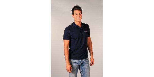 Pánske tmavo modré polo tričko TH