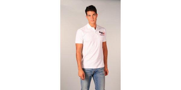 Pánske biele polo tričko s nápismi TH