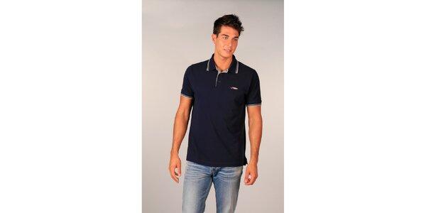 Pánske tmavo modré polo tričko značky TH