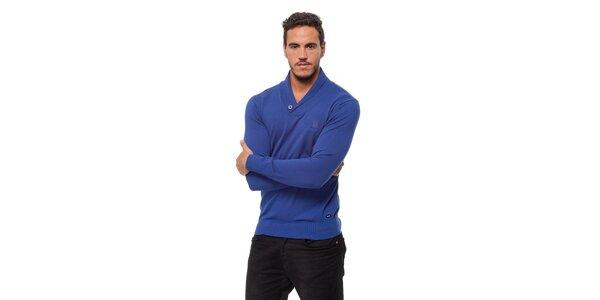 Pánsky modrý sveter Bendorff s límcom