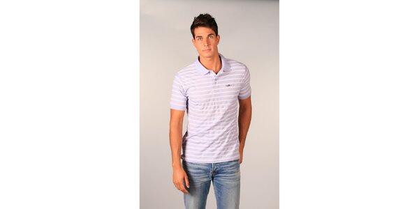 Pánske svetlo fialové pruhované polo tričko značky TH