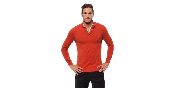 Pánsky tehlovo červený sveter Bendorff