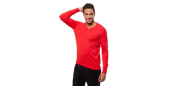 Pánsky sýto červený sveter Bendorff