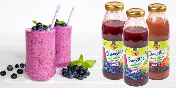 Zdravé ovocné smoothies plné vitamínov: 4 druhy