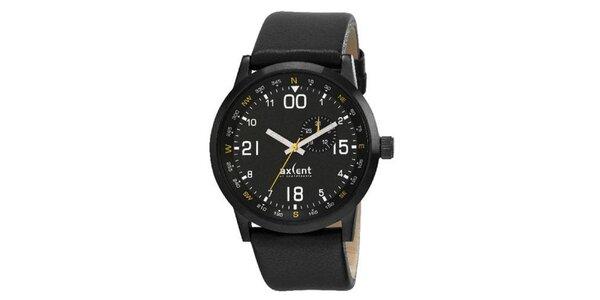 Pánske čierne analogové hodinky Axcen
