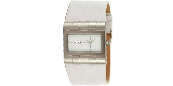Pánske biele hodinky s oceľovým analogovým ciferníkom Axcent