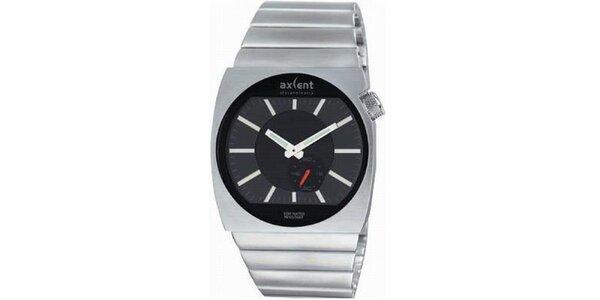 Pánske oceľové hodinky s gulatým analogovým ciferníkom Axcent