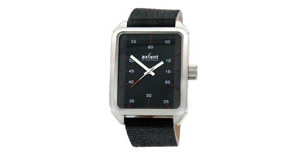 Pánske čierne obdĺžnikové hodinky Axcent