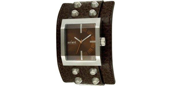 Hranaté náramkové hodinky Axcent s širokým remienkom