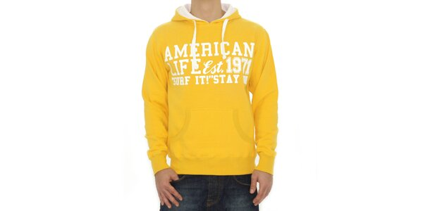 Pánska žltá mikina American Life