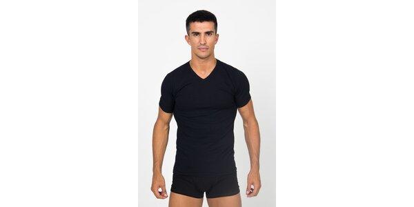 Pánske čierne podvliekacie tričko Roberto Cavalli