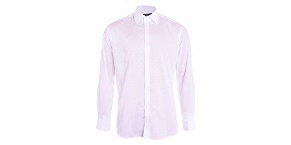 Pánska biela košeľa s dlhými rukávmi Pietro Filipi