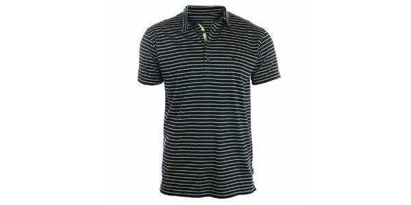 Pánske zelené pruhované polo tričko Pietro Filipi