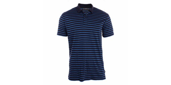 Pánske indigovo modré polo tričko s pruhmi Pietro Filipi