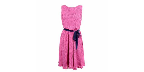Dámske ružové šaty s bodkami Pietro Filipi
