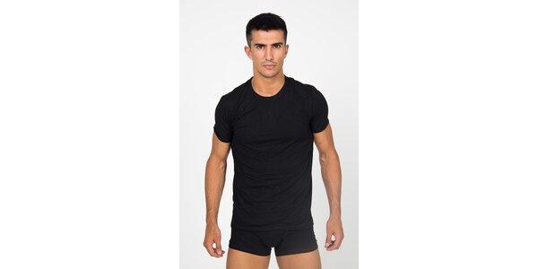 Pánske čierne podvliekacie tričko Roberto Cavalli s potlačou a dlhým rukávom