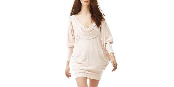 Dámske krémové šaty s odhaleným chrbátom Yuliya Babich