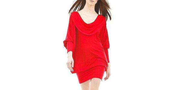 Dámske ohnivo červené šaty s odhaleným chrbátom Yuliya Babich