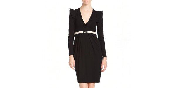 Dámske čierne šaty s krídielkami Yuliya Babich
