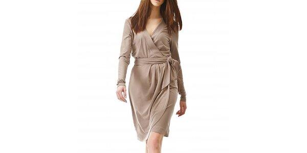Dámske hnedé zavinovacie šaty Yuliya Babich