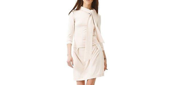 Dámske krémovo biele šaty so šálkou Yuliya Babich