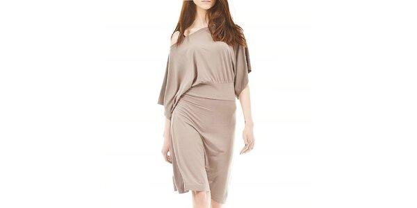 Dámske voľné béžové šaty Yuliya Babich