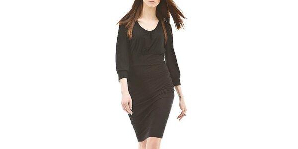 Dámske čierne šaty s dlhými rukávmi Yulija Babich