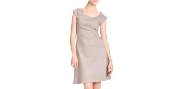 Dámske krátke béžové šaty Yuliya Babich