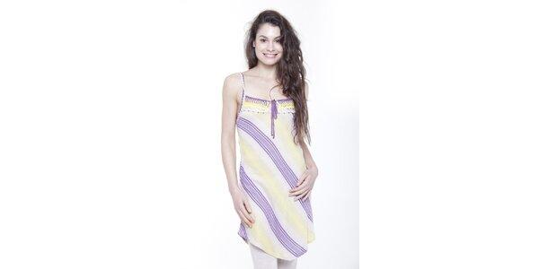 Dámske prúžkované šaty na ramienka Peace&Love