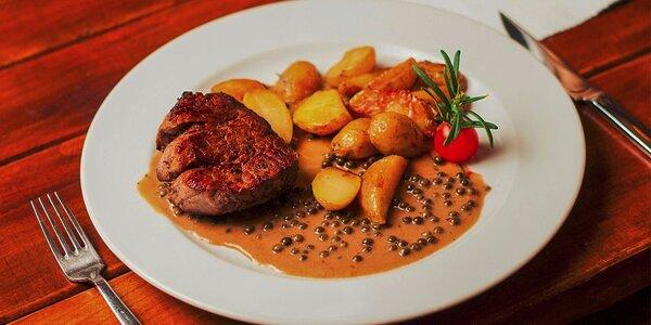2 druhy hovädzích steakov v Modrej Hviezde