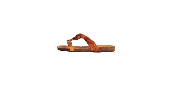 Dámske oranžové sandálky s vrkôčikmi Dr. Scholl