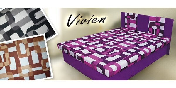 Čalúnená dizajnová posteľ Vivien