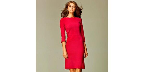 Dámske červené business šaty Nife