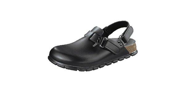 Dámske čierne zdravotné sandále Alpro