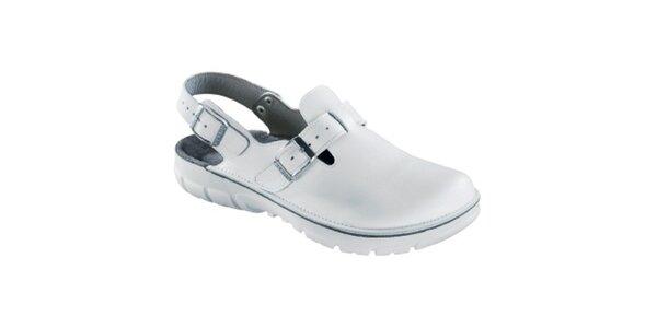 Dámske biele zdravotné šľapky Alpro