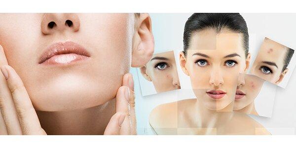 Ošetrenie pleti alebo masáž tváre, krku a dekoltu
