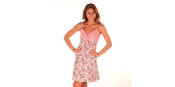 Dámske krátke ružové šaty na ramienka Wanda