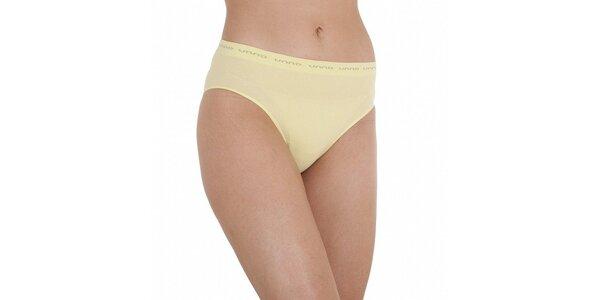 Dámské vanilkovo žlté nohavičky Unno