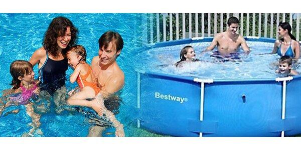 Kruhový bazén s konštrukciou